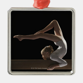 Gymnast on balance beam christmas ornament