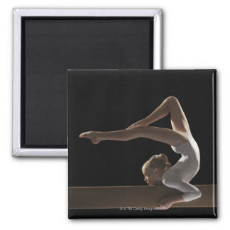 Gymnast on balance beam magnet