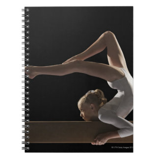 Gymnast on balance beam notebook