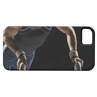 Gymnast on pommel horse iPhone 5 case