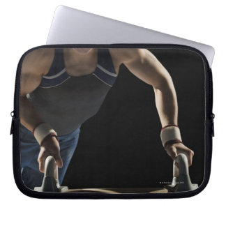Gymnast on pommel horse laptop sleeve