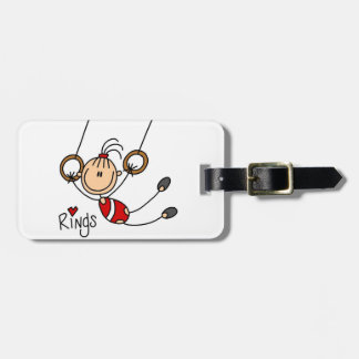 Gymnast on Rings Tag For Bags