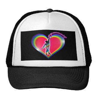 Gymnast Rainbow Heart Black Cap
