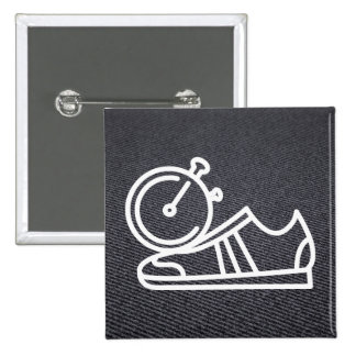 Gymnast Shoes Graphic 15 Cm Square Badge
