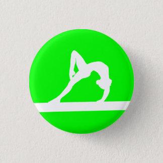 Gymnast Silhouette Button Green