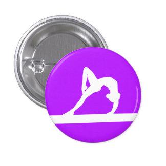 Gymnast Silhouette Button Purple