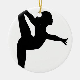 Gymnast Silhouette Christmas Ornament