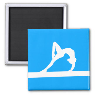 Gymnast Silhouette Magnet Blue