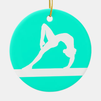 Gymnast Silhouette Ornament Turquoise