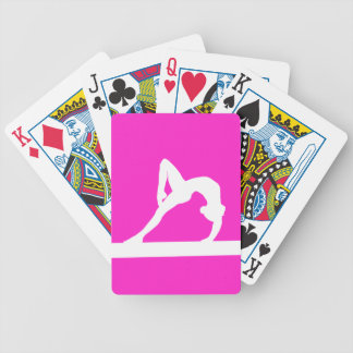 Gymnast Silhouette Playing Cards Pink