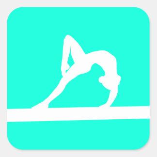 Gymnast Silhouette Sticker Turquoise