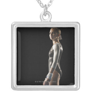 Gymnast Silver Plated Necklace