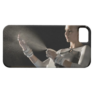 Gymnast spraying water on hands barely there iPhone 5 case