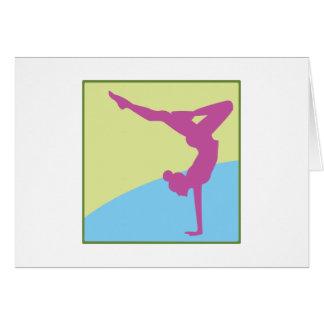 Gymnast Square Cards