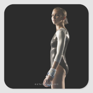 Gymnast Square Sticker