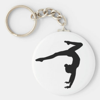 Gymnast Stag Handstand Gifts Basic Round Button Key Ring