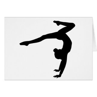 Gymnast Stag Handstand Gifts Card