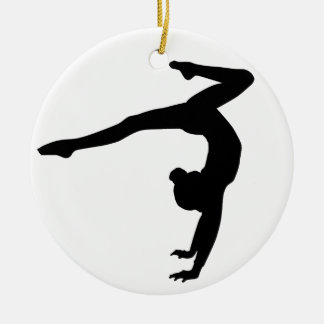 Gymnast Stag Handstand Gifts Christmas Ornament