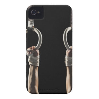 Gymnast swinging from rings 2 iPhone 4 Case-Mate cases