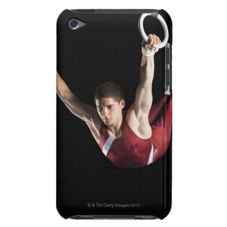 Gymnast swinging from rings iPod Case-Mate cases