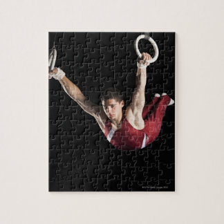 Gymnast swinging from rings jigsaw puzzle