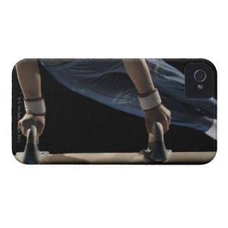 Gymnast swinging on pommel horse iPhone 4 case