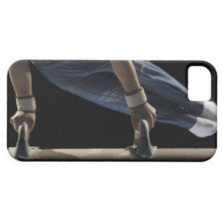 Gymnast swinging on pommel horse iPhone 5 cases