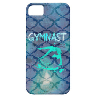 Gymnast Tribal Pattern Blue iPhone 5 Covers