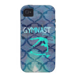Gymnast Tribal Pattern Blue Case For The iPhone 4