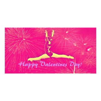 Gymnast Valentines Day Photocard Photo Card