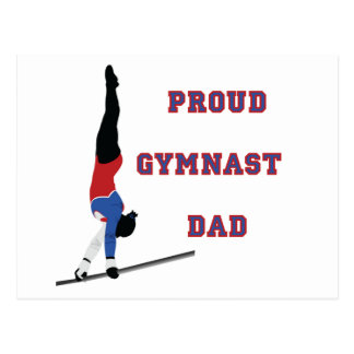 GymnastChick Proud Dad Postcard