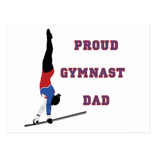 GymnastChick Proud Dad Postcards