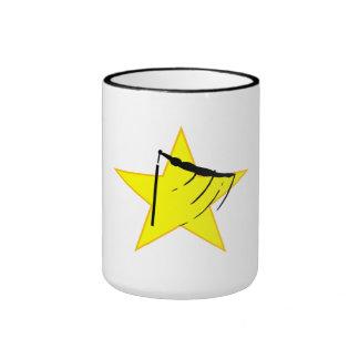 Gymnastic Bars Silhouette Star Mug