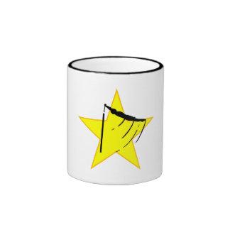 Gymnastic Bars Silhouette Star Coffee Mugs