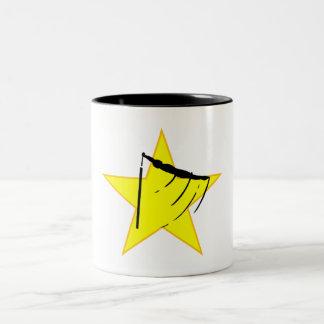Gymnastic Bars Silhouette Star Coffee Mug