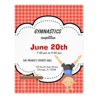 Gymnastic Boy Competition (Red) 21.5 Cm X 28 Cm Flyer