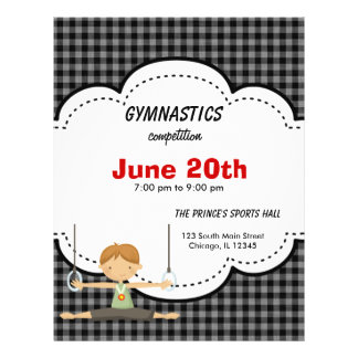Gymnastic Competition (Black) 21.5 Cm X 28 Cm Flyer