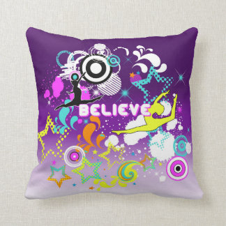 Gymnastic, Dance, girls graphic design pillow