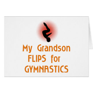 Gymnastic FLIP Family Male Greeting Card