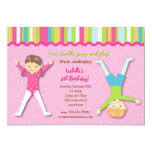 "Gymnastic Gym Gymnast Birthday Party Invitations 5"" X 7"" Invitation Card"