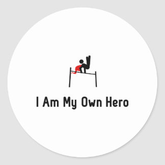 Gymnastic Horizontal Bar Hero Round Sticker