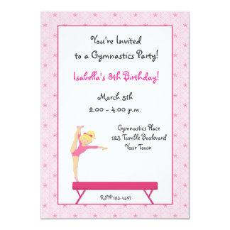 "Gymnastic Party, Balance Beam Invitation 5"" X 7"" Invitation Card"