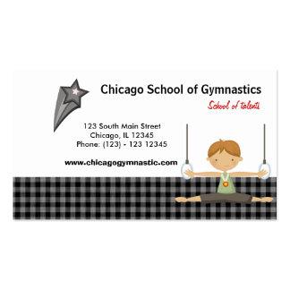 Gymnastic School (Black) Pack Of Standard Business Cards