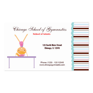 Gymnastic School Pack Of Standard Business Cards