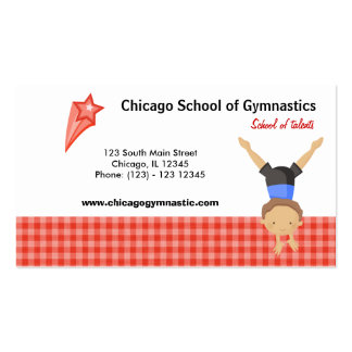 Gymnastic School (Red) Pack Of Standard Business Cards