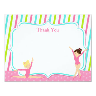 Gymnastic Thank You Cards