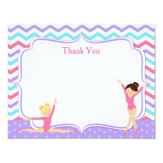 Gymnastic Thank You Notes 11 Cm X 14 Cm Invitation Card