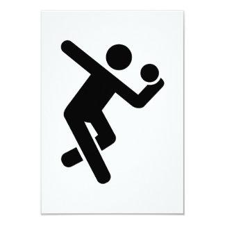 Gymnastics 9 Cm X 13 Cm Invitation Card