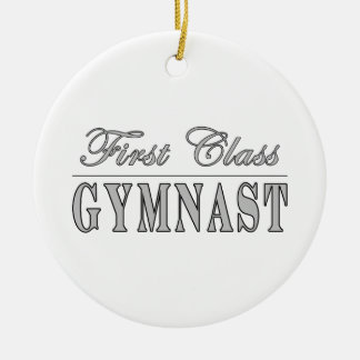 Gymnastics and Gymnasts : First Class Gymnast Christmas Ornament
