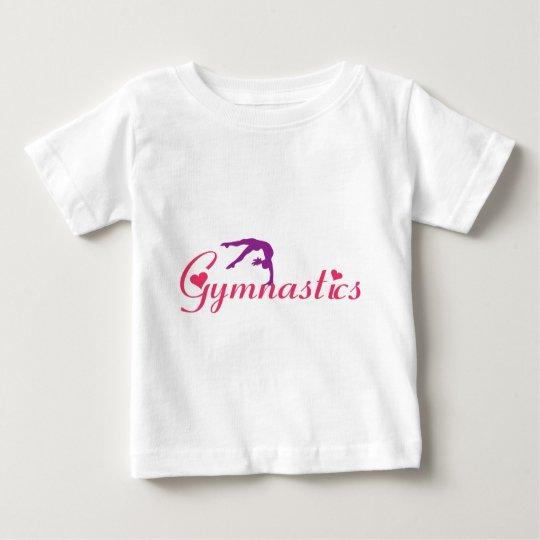 Gymnastics Apparel Hearts for Girl Baby T-Shirt